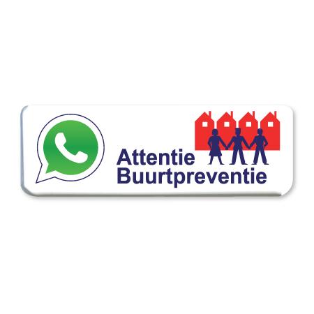 whatsapp buurtpreventie bord