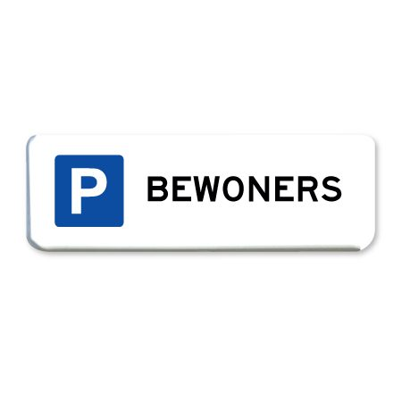 parkeerbord bewoners