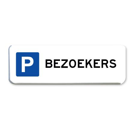 parkeerbord bezoekers