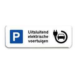 parkeerbord elektrische voertuigen