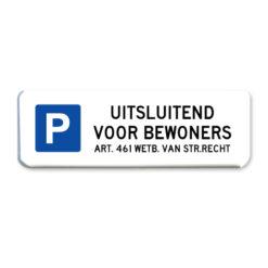 parkeerbord-bewoners