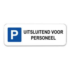 parkeerbord-personeel