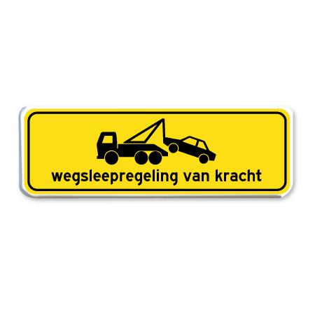 parkeerbord wegsleepregeling