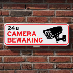 bord-camerabewaking-muur
