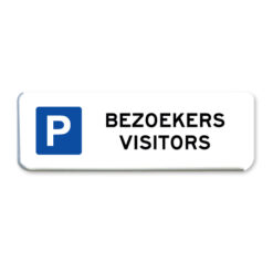 parkeerbord bezoekers visitors