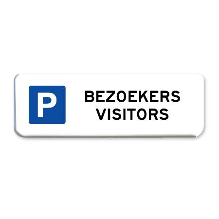 parkeerbord bezoekers visitors