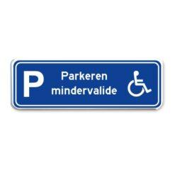 parkeerbord minder valide