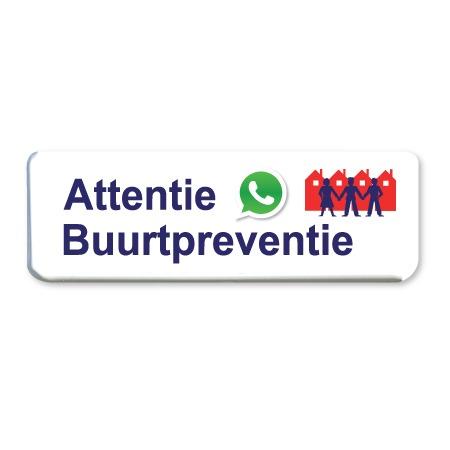 buurtpreventie whatsapp bord