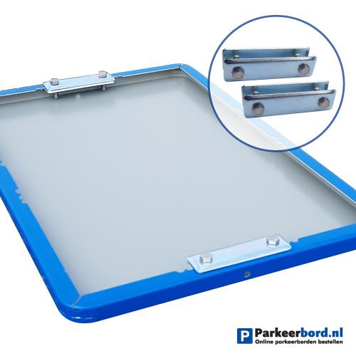 bord-blauw-60x40cm-staand-met-hekbeugels
