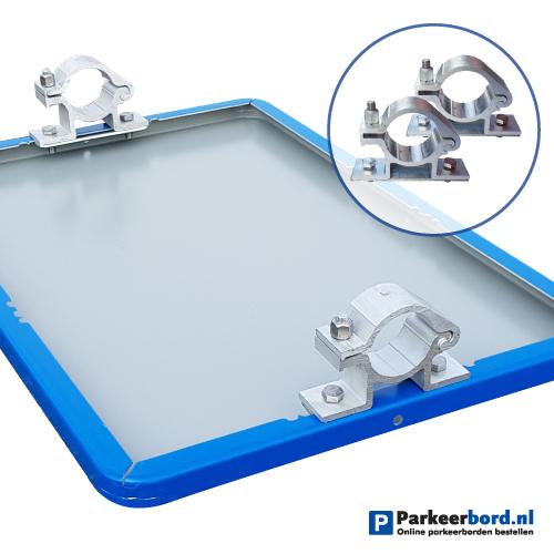 bord-blauw-60x40cm-staand-met-paalbeugels
