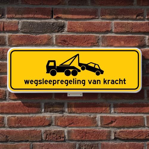 wegsleepregeling-bord