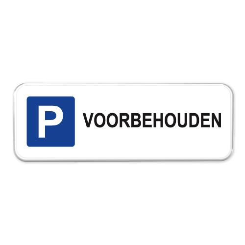 parkeerbord-voorbehouden