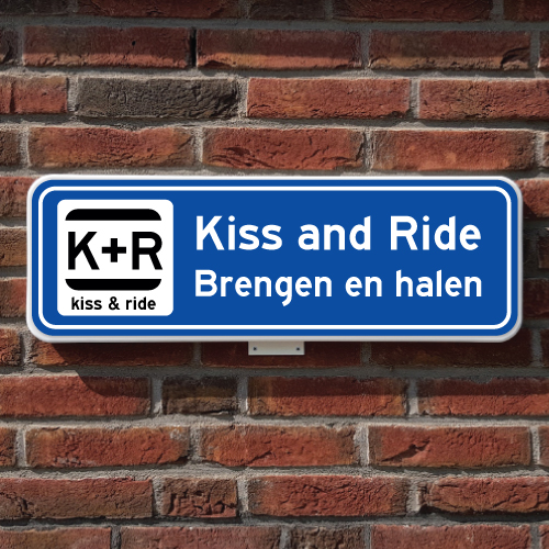 Kiss and ride bord