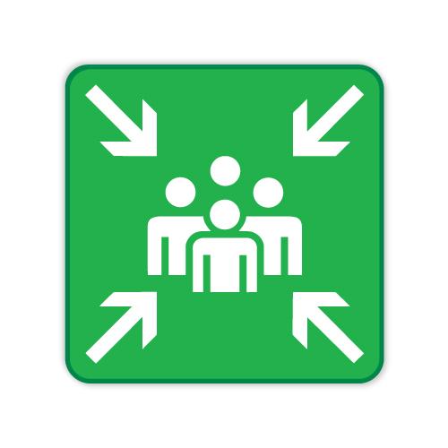verzamelplaats-bord