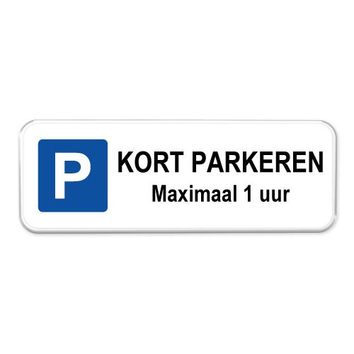 parkeerbord-kort-parkeren-1-uur