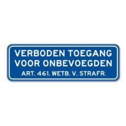 bord-verboden-toegang-II
