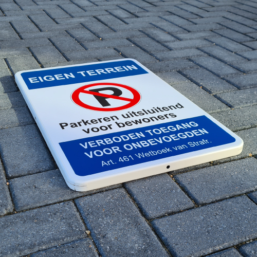 parkeerbord-bewoners-eigen-terrein