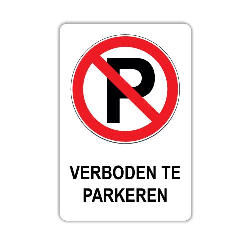 Verboden te parkeren bord