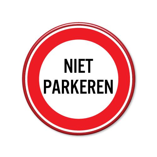 verkeersbord niet parkeren