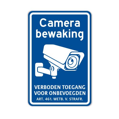 bord-camerabewaking-verboden-toegang-blauw