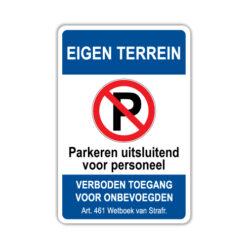 parkeerbord-eigen-terrein-personeel
