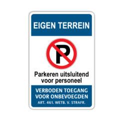 parkeerbord-eigen-terrein-uitsluitend-voor-personeel