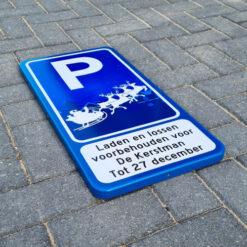 parkeerbord-kerstman