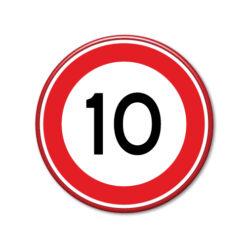 verkeersbord-maximum-snelheid-10km