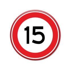 verkeersbord-maximum-snelheid-15km