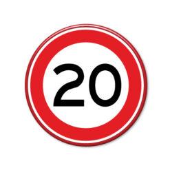 verkeersbord-maximum-snelheid-20km
