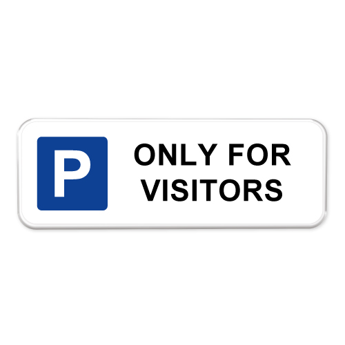 parkeerbord-only-for-visitors