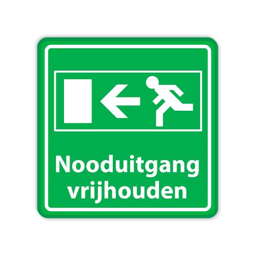 nooduitgang-vrijhouden-bord-groen