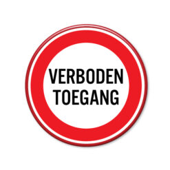 verboden-toegang-bord-rond